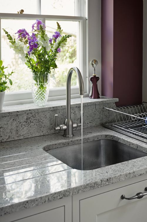 Under-mounted Sink Set in Granite Gallery