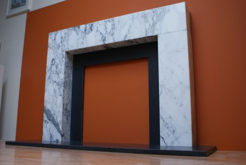Boxed Marble Fireplace  Gallery