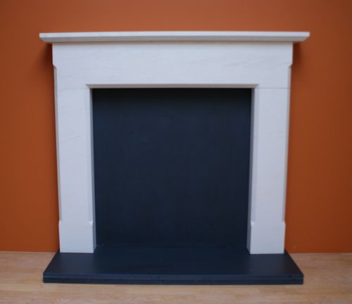 Marble And Limestone Fireplace