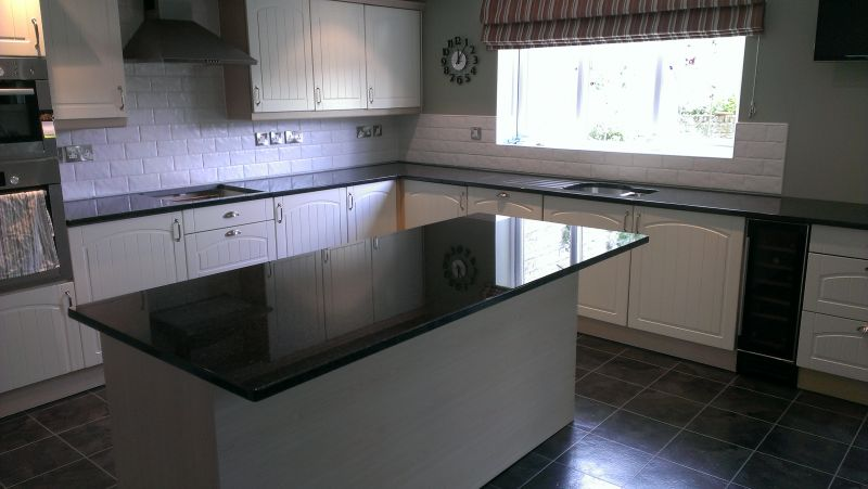 Nero Angola granite worktops in Wells  Gallery